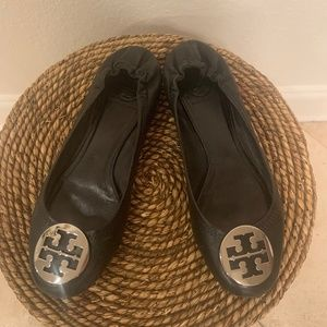 womens black Tory Burch flats